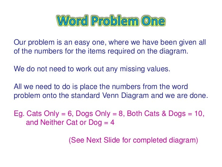 Venn Diagram Word Problems Solving Word Problems With