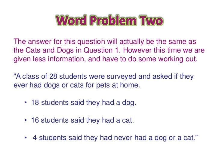 Venn diagram word problems see next slide 7 ccuart Gallery