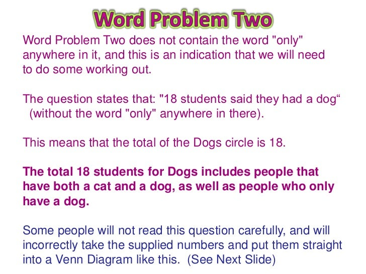 Venn diagram word problems see next slide 8 ccuart Gallery