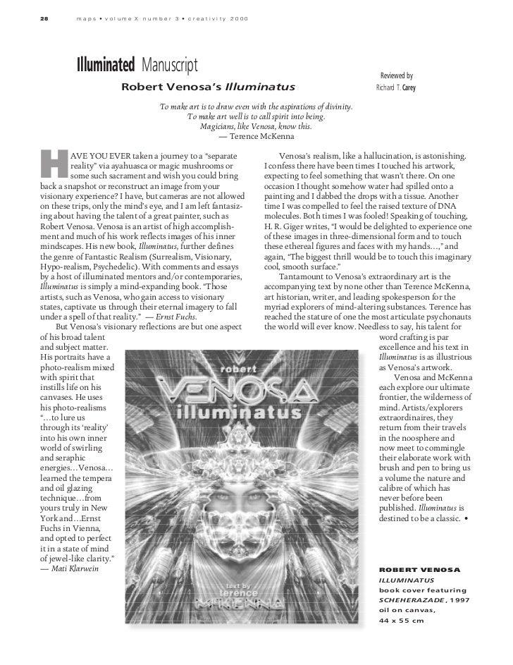 28        maps • volume X number 3 • creativity 2000          Illuminated Manuscript                                      ...