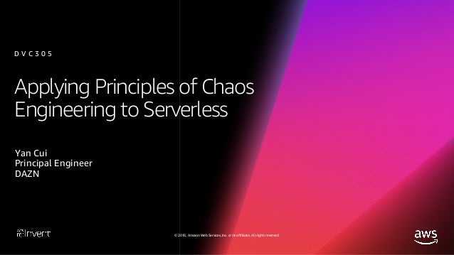 © 2018, Amazon Web Services, Inc. or its affiliates. All rights reserved. Agenda What is chaos engineering? New challenges...