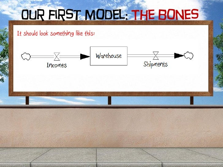 Our first model: The bones It should look something like this: