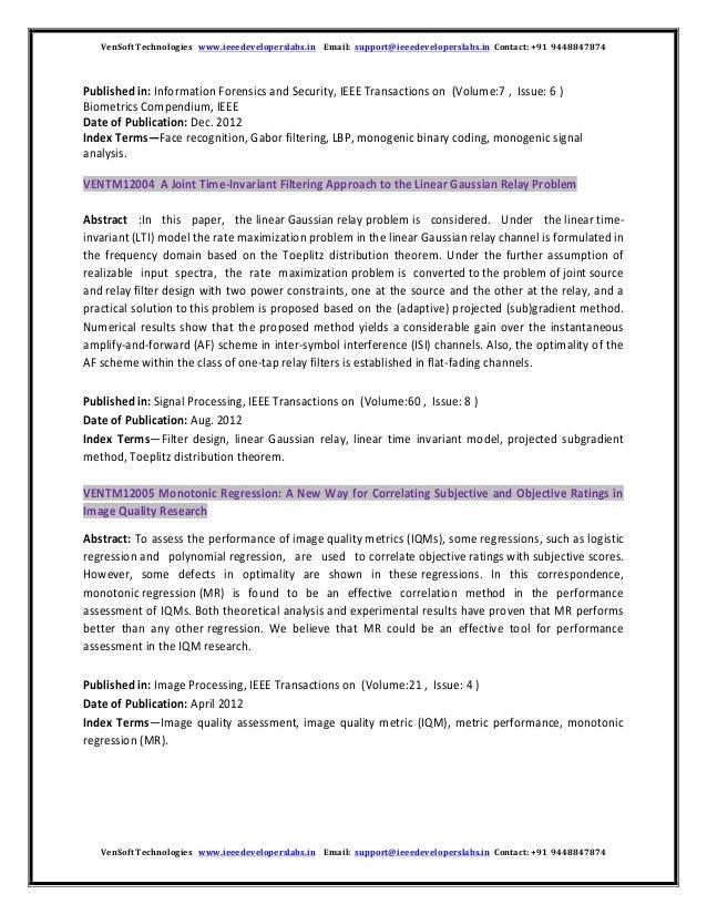 Vensoft IEEE 2014 2015 Matlab Projects tiltle Image Processing Wirele… a438a10b28e
