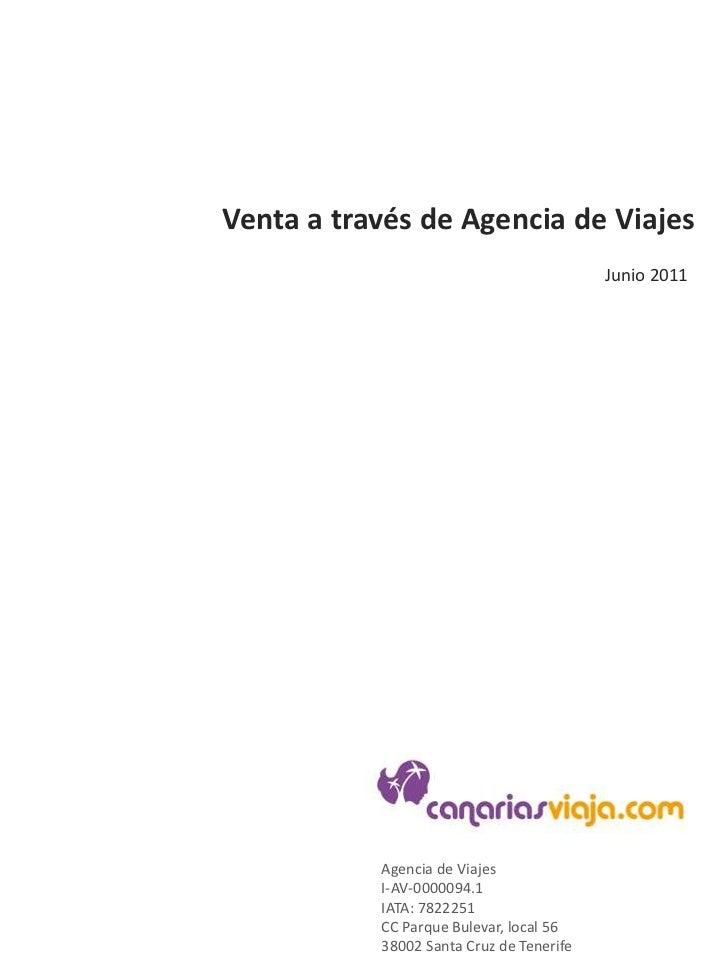 Venta a través de Agencia de Viajes<br />2011<br />