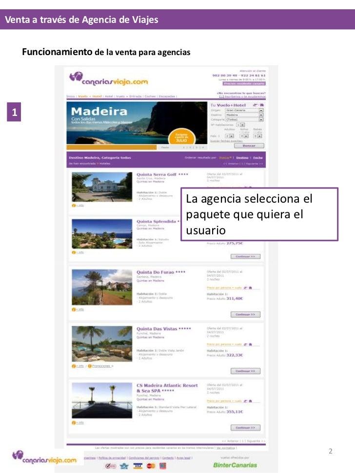 Venta a través de Agencia de Viajes<br />1<br />La agencia selecciona el paquete que quiera el usuario<br />2<br />