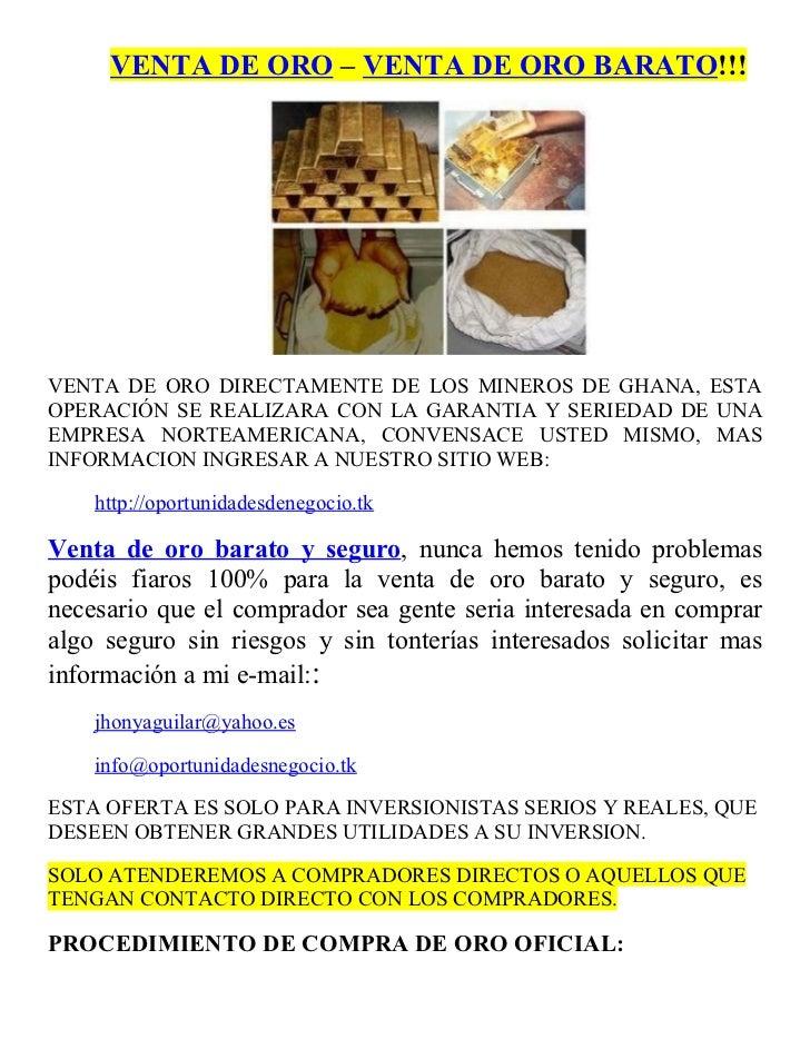 4d309e3015d0 VENTA DE ORO – VENTA DE ORO BARATO!!!VENTA DE ORO DIRECTAMENTE DE ...