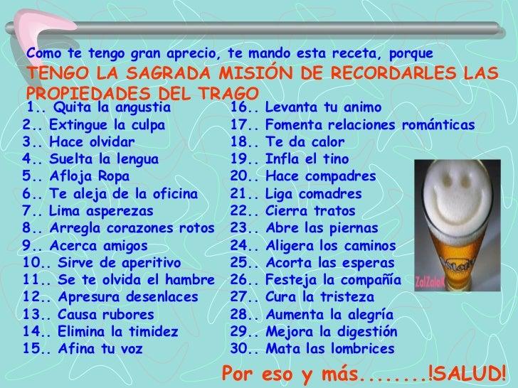 Como te tengo gran aprecio, te mando esta  receta, porque   TENGO LA SAGRADA MISIÓN DE RECORDARLES LAS   PROPIEDADES DEL T...