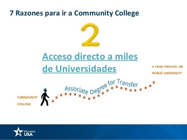 7 Razones para ir a Community College Atención Individual y personalizada