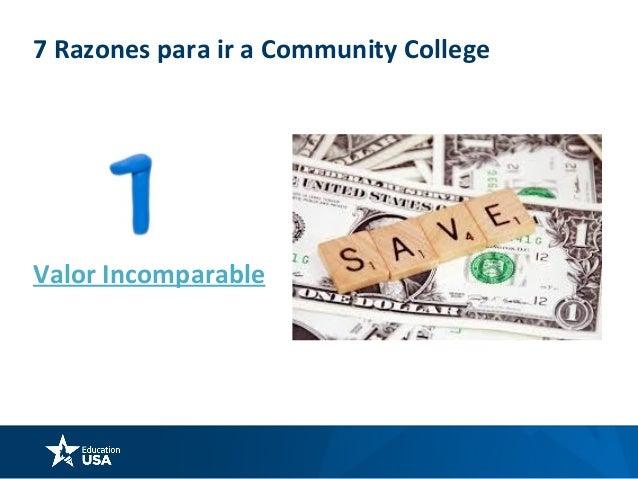 7 Razones para ir a Community College Acceso directo a miles de Universidades COMMUNITY COLLEGE 4 YEAR PRIVATE OR PUBLIC U...