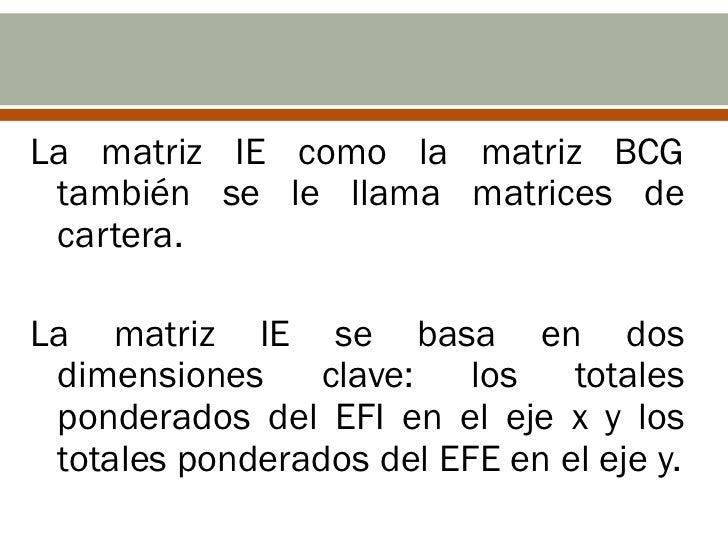 Tomar los totales ponderadosde la EFI   Tomar los totales ponderados   de la EFE      Identificar el cuadrante en el      ...