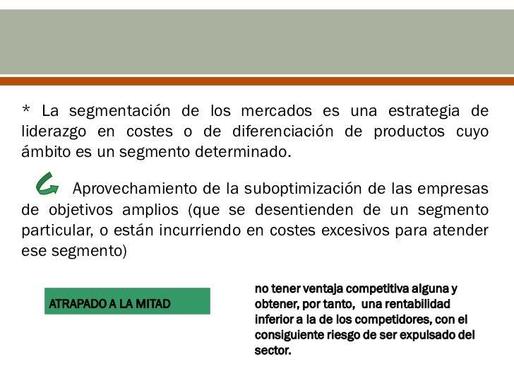 La estrategia competitiva es labúsqueda de una posición favorablepara la Empresa dentro de un sectorindustrial que es el e...