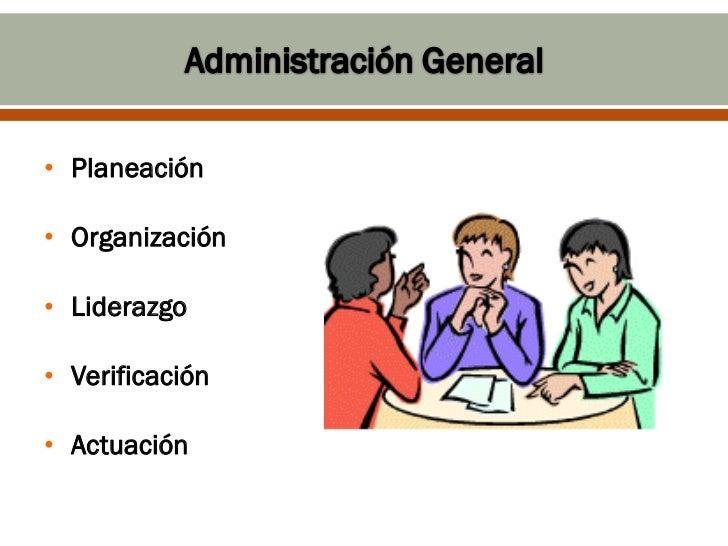 • Planeación• Organización• Liderazgo• Verificación• Actuación