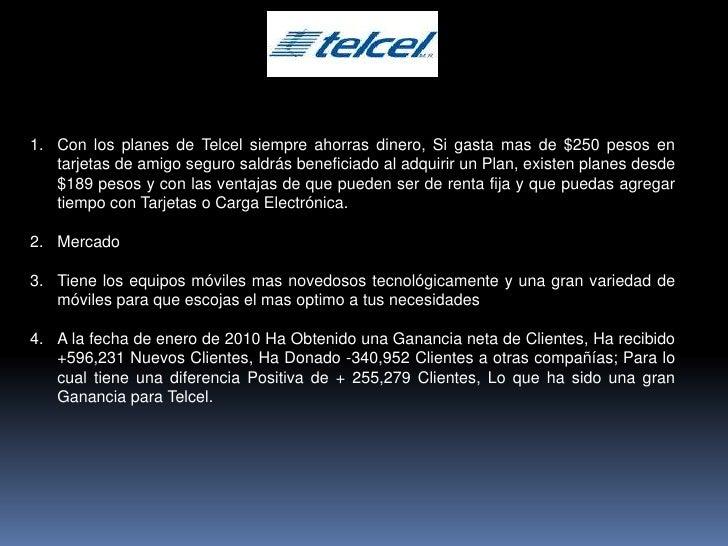 Con los planes de Telcel siempreahorras dinero, Si gasta mas de$250pesos en tarjetas de amigo seguro saldrás beneficiad...