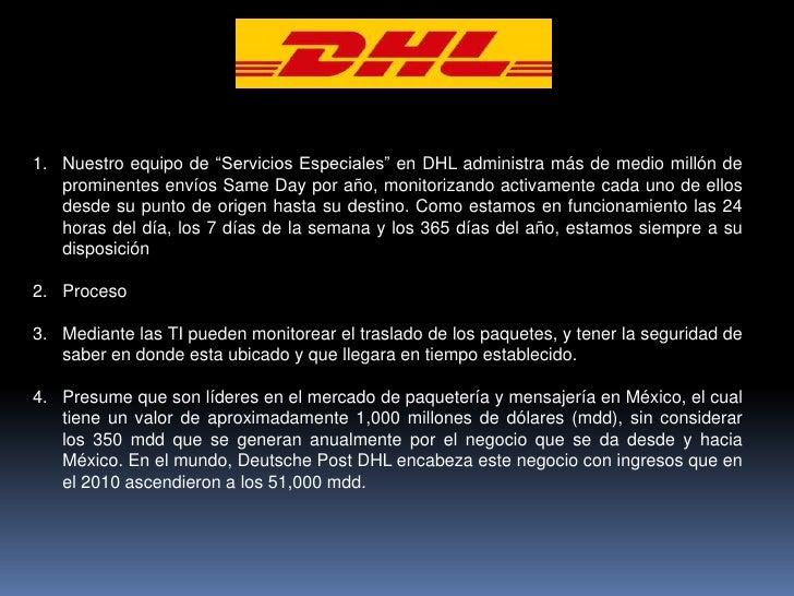 """Nuestro equipo de """"Servicios Especiales"""" en DHL administra más de medio millón de prominentes envíos SameDay por año, moni..."""