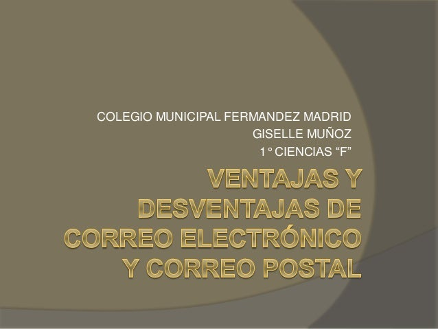 "COLEGIO MUNICIPAL FERMANDEZ MADRID  GISELLE MUÑOZ  1° CIENCIAS ""F"""