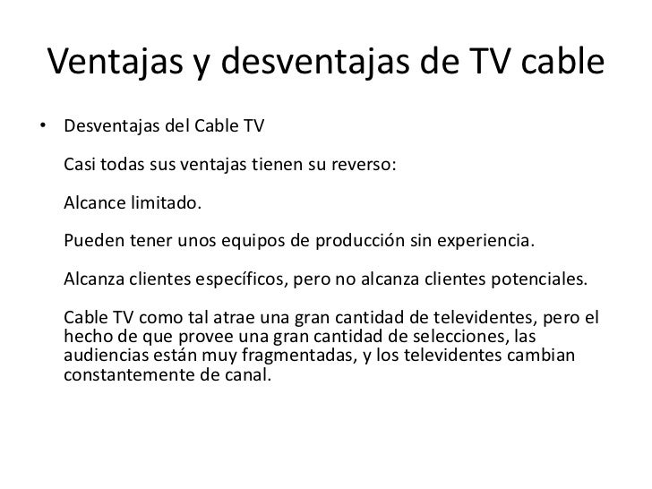 Ventajas y desventajas de la televisión