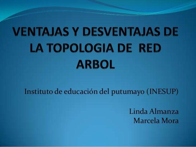 Instituto de educación del putumayo (INESUP)                             Linda Almanza                              Marcel...