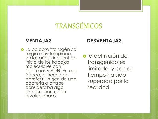 Ventajas y desventajas de los transg nicos - Ventajas alimentos transgenicos ...