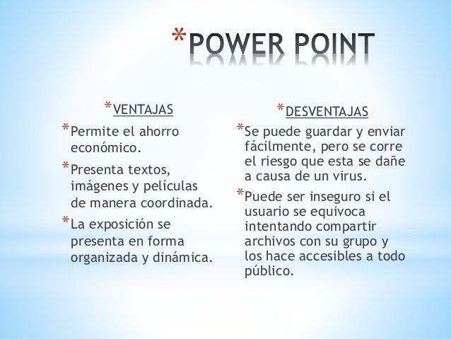 Ventajas y desventajas de power point