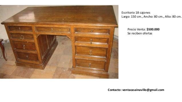 Venta muebles antiguos u oa santiago chile - Escritorios antiguos baratos ...