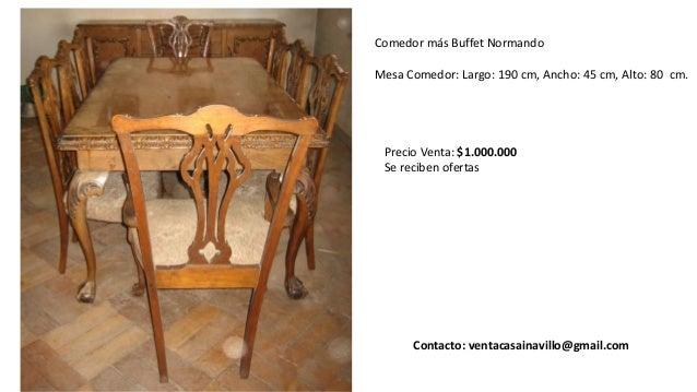 Venta muebles antiguos. Ñuñoa. Santiago. Chile