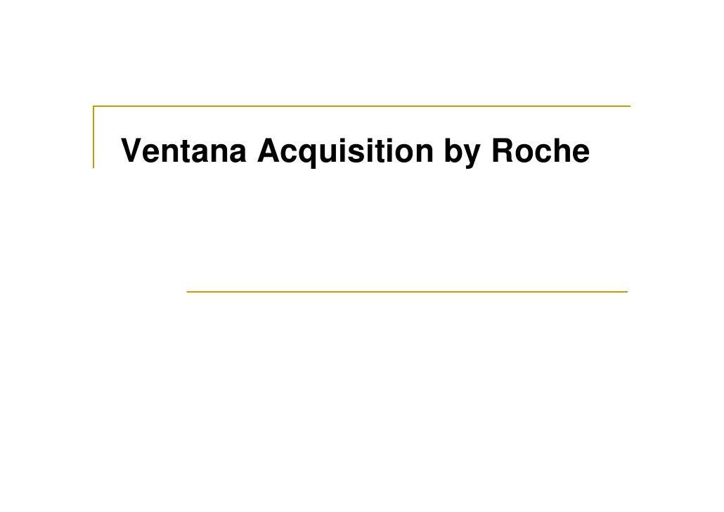 Ventana Acquisition by Roche