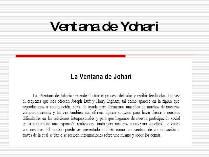 Ventana de Yohari