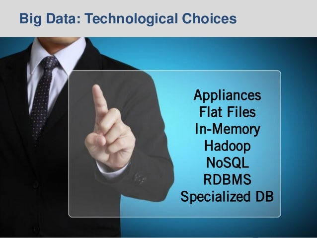© 2014 Ventana Research18 © 2014 Ventana Research18 Big Data: Technological Choices Appliances Flat Files In-Memory Hadoop...