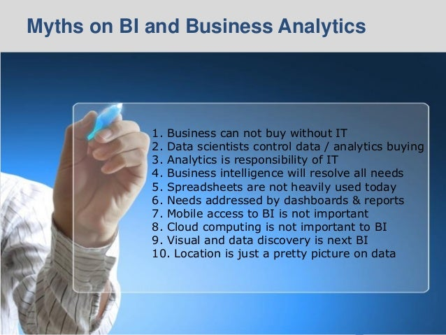© 2014 Ventana Research8 © 2014 Ventana Research8 1. Business can not buy without IT 2. Data scientists control data / ana...