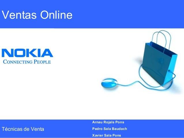 Ventas OnlineTécnicas de VentaArnau Rojals PonsPedro Sala BaudachXavier Sala Pons