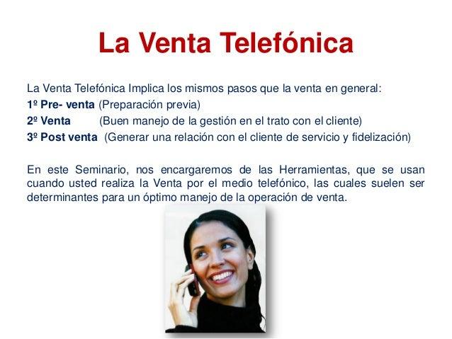 Telemarketing - Ventas telefónicas Seminario taller Capacidad Empresarial Slide 2
