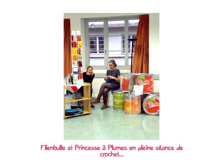 Filenbulle et Princesse à Plumes en pleine séance de                        crochet...