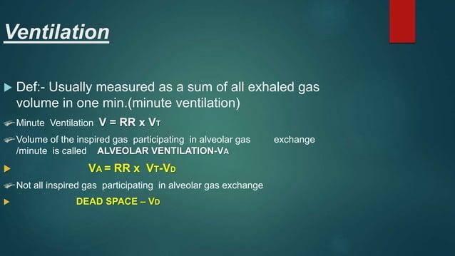 Ventilation -6 -3 -1 Intra pleural pr