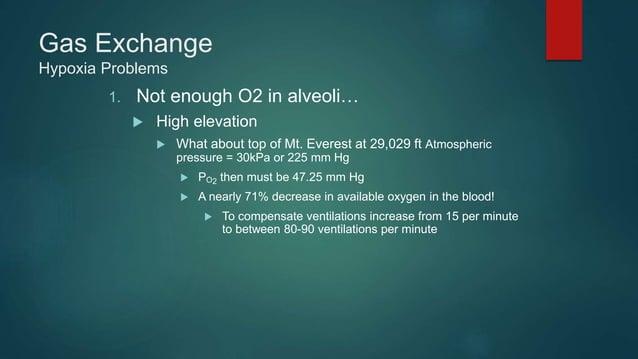 Gas Transport Oxygen Summary