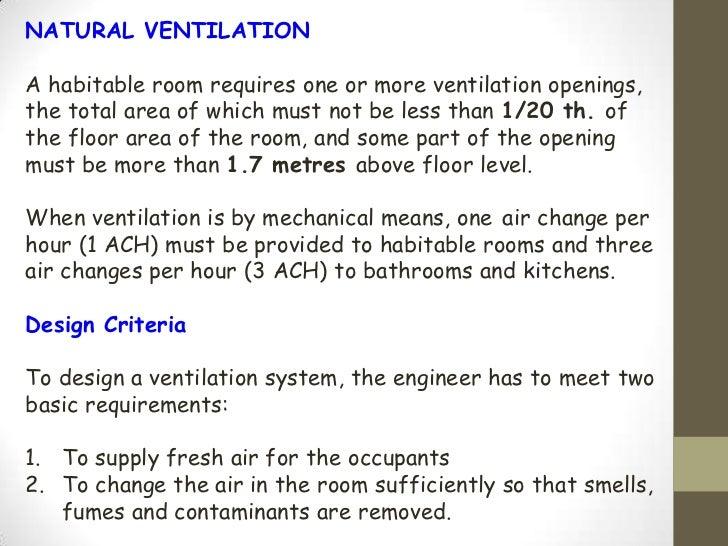 Air Changes Per Hour : Ventilation rate