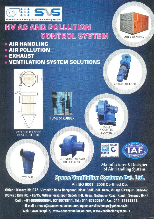 Space Ventilation Systems Private Limited, Delhi, ir Handling Systems