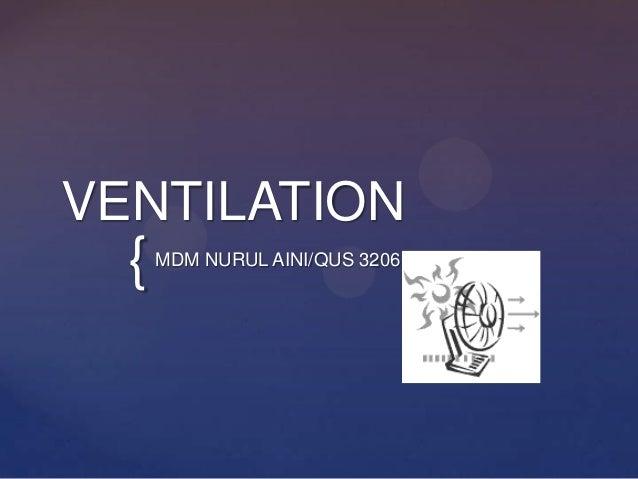{ VENTILATION MDM NURUL AINI/QUS 3206