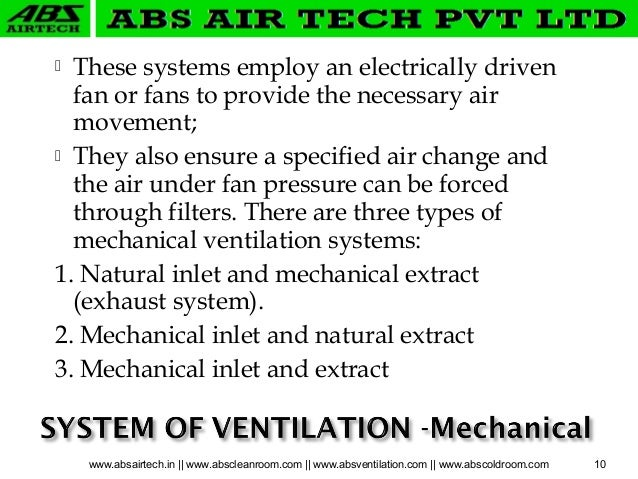 Ventilation System Presentation by Team ABS Air Tech Gurgaon