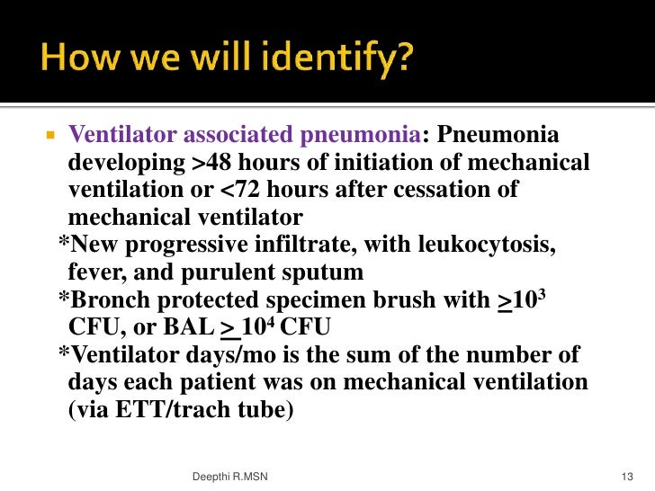 associated ventilator pneumonia prevention research Ventilator-associated pneumonia is a common cause of morbidity in  for  inclusion in this review, studies were required to have at least a level.