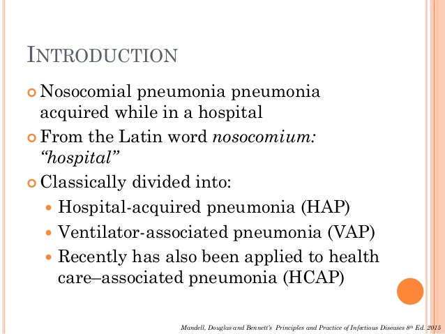 hospital acquired pneumonia case study Pneumonia a case study of lobar pneumonia  hospital acquired:  here is a case study of patient suffering from a community acquired lobal pneumonia.
