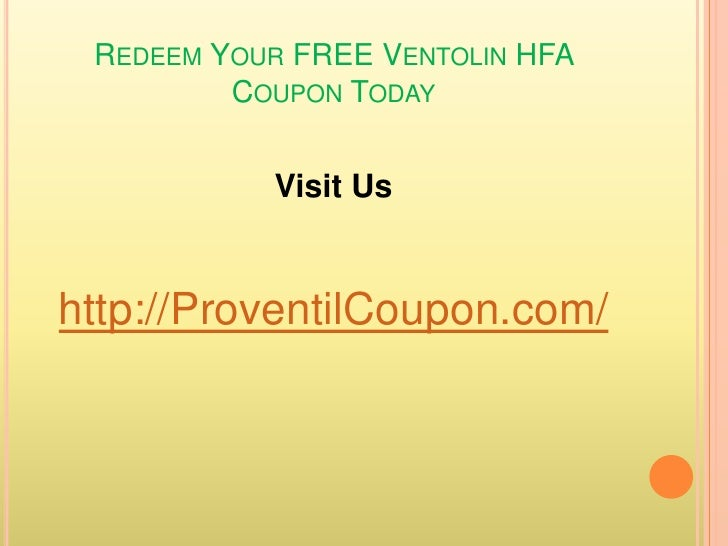 Proventil Hfa Printable Coupons