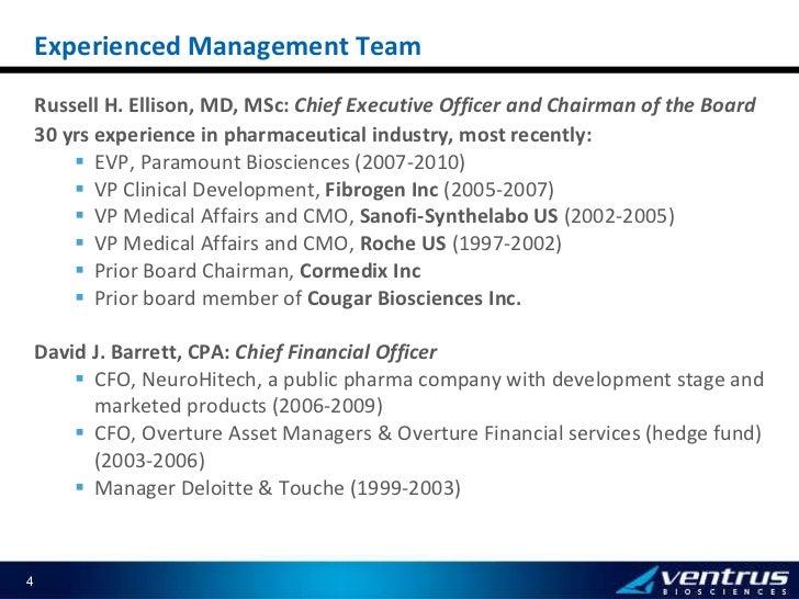 <ul><li>Russell H. Ellison, MD, MSc:  Chief Executive Officer and Chairman of the Board </li></ul><ul><li>30 yrs experienc...