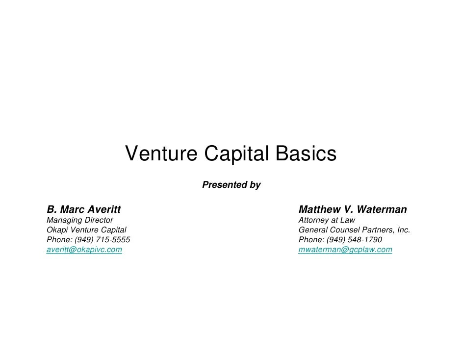 Venture Capital Basics
