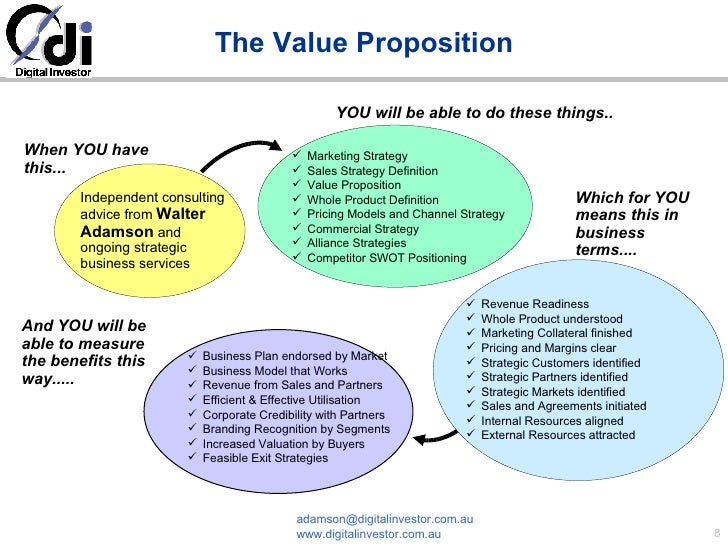 emerging value propositions for m commerce Usually, this is the seller who has greater knowledge, several strategies of value proposition distinguished (eg which is the best seen on the second-hand market online inferior value - low prices, superior value - high prices.