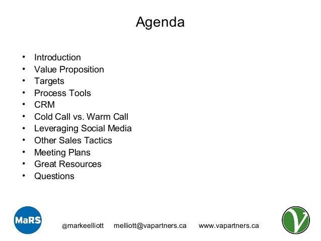 Entrepreneurship 101 B2B Sales – Sample Sales Meeting Agenda
