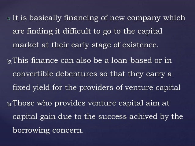 venture capital vignettes difficult financings Examine why socially equitable and environmentally sustainable economic growth is difficult to  effects of increasing international capital.