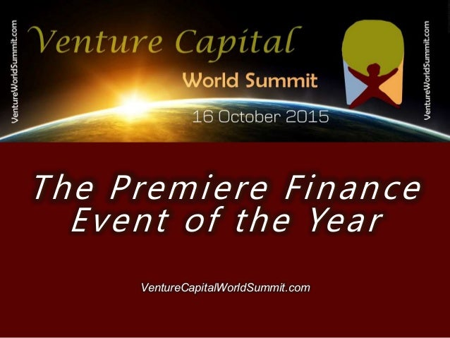 Venture Capital World Summit 2015 Agenda - 웹