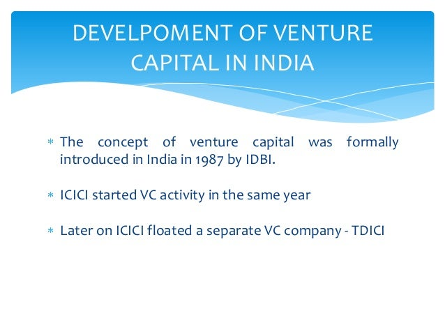 thesis concerning endeavor investment capital through india