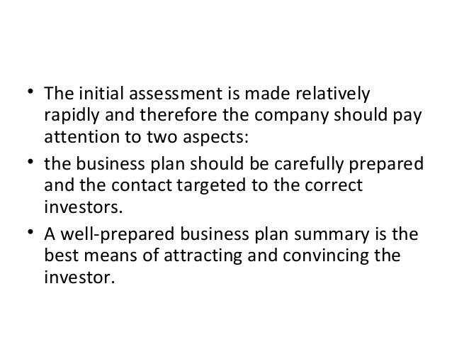 • The initial assessment is made relatively rapidly and therefore the company should pay attention to two aspects: • the b...