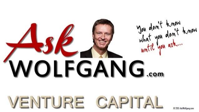 Venture Capital 101 in Simple Terms by Wolfgang Kovacek - Ask Wolfgang